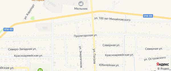 Пролетарская улица на карте Михайловского села с номерами домов