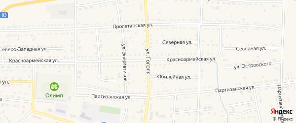 Улица Гоголя на карте Михайловского села с номерами домов