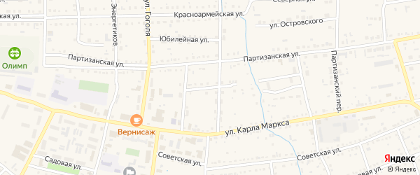 Улица Л.Толстого на карте Михайловского села с номерами домов