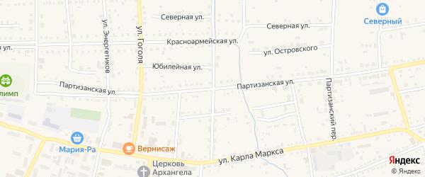 Партизанская улица на карте Михайловского села с номерами домов