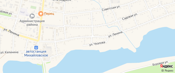 Улица Ленина на карте Михайловского села с номерами домов