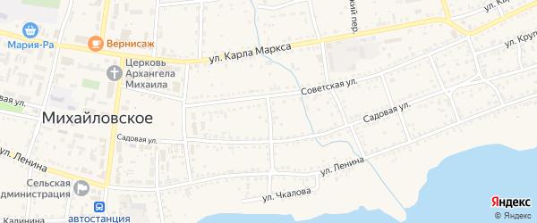 Садовая улица на карте Михайловского села с номерами домов