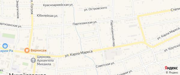 Первомайский переулок на карте Михайловского села с номерами домов
