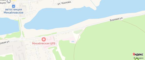 Боровая улица на карте Михайловского села с номерами домов