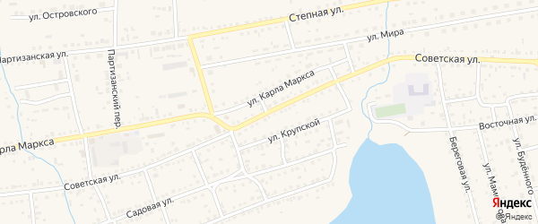 Советская улица на карте Михайловского села с номерами домов