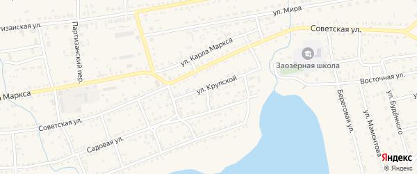 Улица Крупской на карте Михайловского села с номерами домов