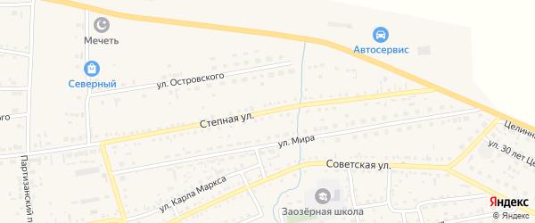 Степная улица на карте поселка Малинового Озера с номерами домов