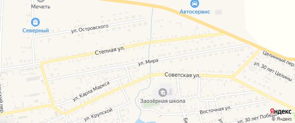 Улица Мира на карте Михайловского села с номерами домов
