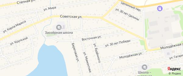 Восточная улица на карте Михайловского села с номерами домов