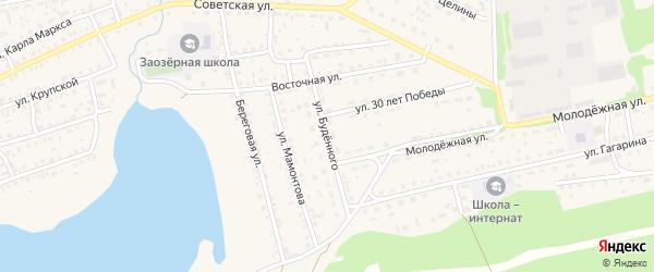 Улица Буденного на карте Михайловского села с номерами домов