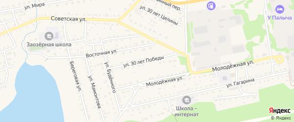Улица 30 лет Победы на карте Михайловского села с номерами домов