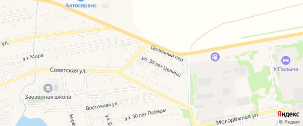 Улица 30 лет Целины на карте Михайловского села с номерами домов