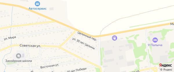 Целинный переулок на карте Михайловского села с номерами домов