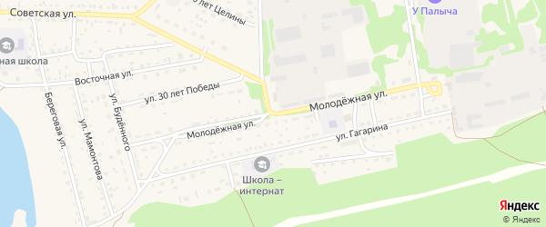 Молодежная улица на карте Михайловского села с номерами домов