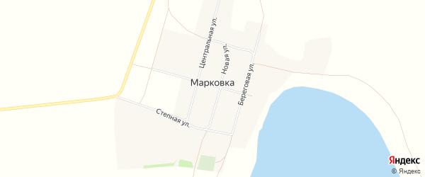 Карта села Марковки в Алтайском крае с улицами и номерами домов