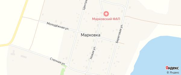 Береговая улица на карте села Марковки с номерами домов