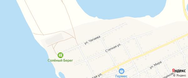 Улица Чапаева на карте поселка Малинового Озера с номерами домов