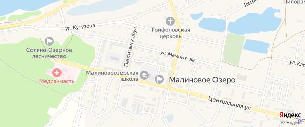 Заводской переулок на карте поселка Малинового Озера с номерами домов