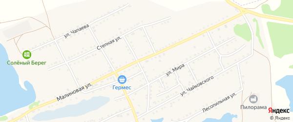 Малиновая улица на карте садового некоммерческого товарищества N 6 с номерами домов