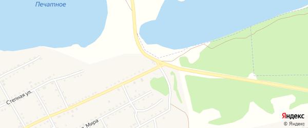 Малиновая улица на карте садового некоммерческого товарищества N 1 с номерами домов