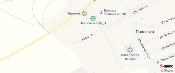 Новая улица на карте села Павловки с номерами домов