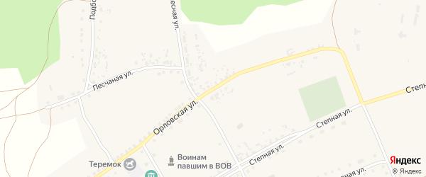 Орловская улица на карте села Павловки с номерами домов