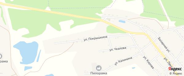 Улица Покрышкина на карте поселка Малинового Озера с номерами домов
