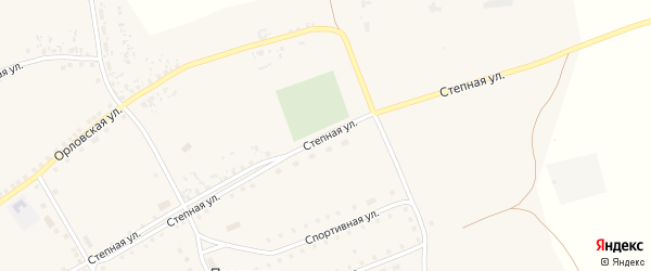 Степная улица на карте села Павловки с номерами домов