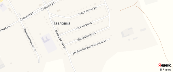 Урожайная улица на карте села Павловки с номерами домов