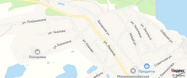 Октябрьский переулок на карте поселка Малинового Озера с номерами домов