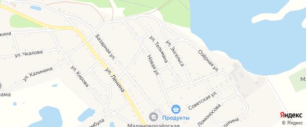 Новая улица на карте поселка Малинового Озера с номерами домов