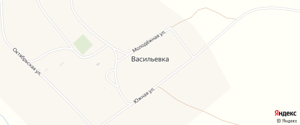 Ленинская улица на карте поселка Васильевки с номерами домов