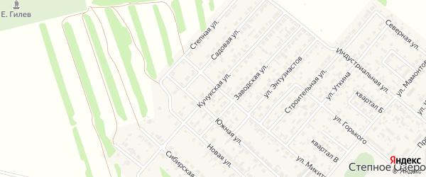 Кучукская улица на карте поселка Степного Озера с номерами домов