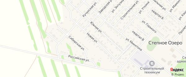 Новая улица на карте поселка Степного Озера с номерами домов