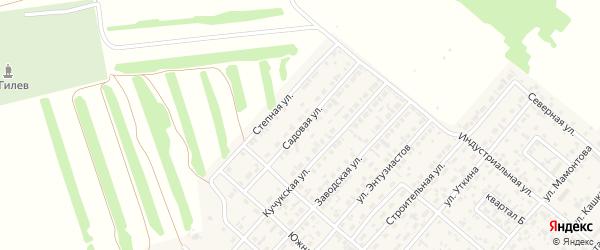 Садовая улица на карте поселка Степного Озера с номерами домов