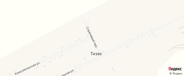 Сиреневый переулок на карте поселка Тизека с номерами домов