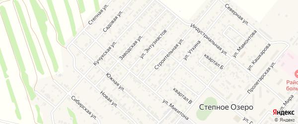 Улица Тельмана на карте поселка Степного Озера с номерами домов