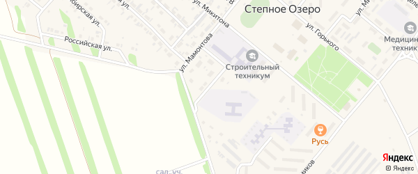 Вишневая улица на карте поселка Степного Озера с номерами домов