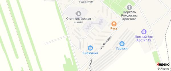 Улица Рихарда Зорге на карте поселка Степного Озера с номерами домов