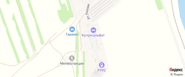 Улица Попова на карте поселка Степного Озера с номерами домов