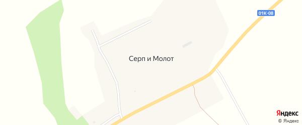 Зеленая улица на карте поселка Серп-Молот с номерами домов