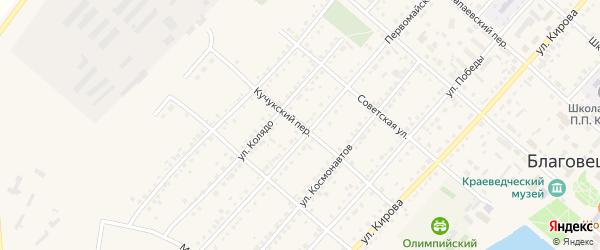Кучукский переулок на карте поселка Благовещенки с номерами домов