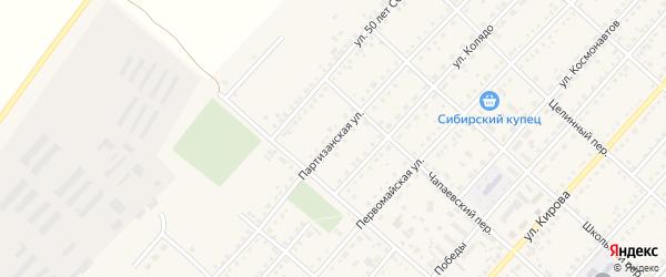 Партизанская улица на карте поселка Благовещенки с номерами домов