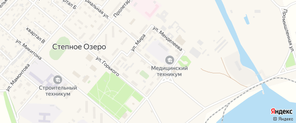 Улица Ильича на карте поселка Степного Озера с номерами домов