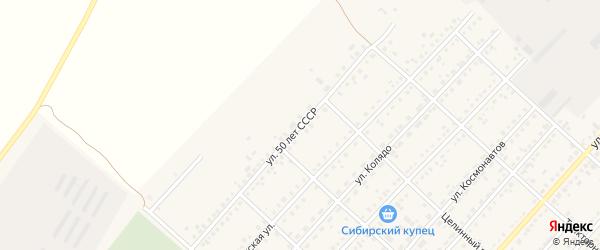 Улица 50 лет СССР на карте поселка Благовещенки с номерами домов