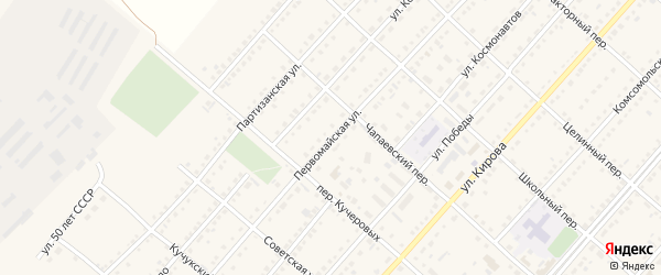 Первомайская улица на карте поселка Благовещенки с номерами домов