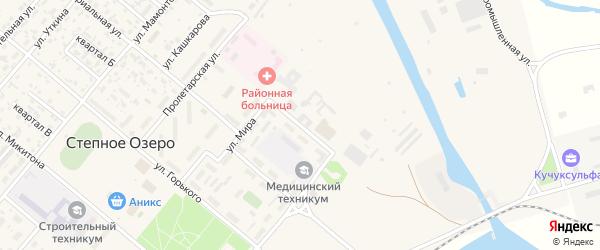 Улица Менделеева на карте поселка Степного Озера с номерами домов