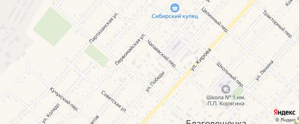 Улица Космонавтов на карте поселка Благовещенки с номерами домов