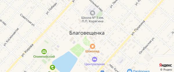 Маслозаводская улица на карте поселка Благовещенки с номерами домов