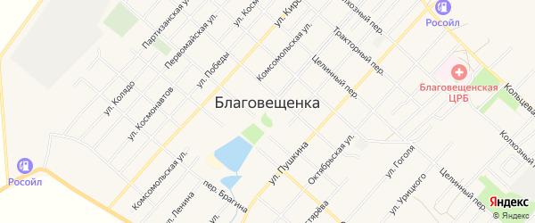 СТ Автотранспортник на карте поселка Благовещенки с номерами домов